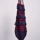 CROCHETED & BEADED PURSE, 1890s