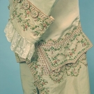 GENTLEMANS' EMBROIDERED SILK SUIT, c. 1775