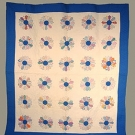 PIECED SUNFLOWER QUILT, 1930s