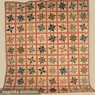 PIECED STAR QUILT, LATE 19th-EARLY 20th C
