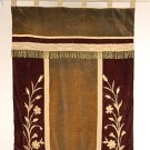 GOLD EMBROIDERED VELVET BANNER, LATE 19th C