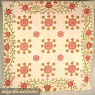 FLORAL APPLIQUED QUILT, LATE 19th C