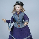FRENCH FASHION DOLL, 19TH C