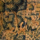 21' LONG BOAR HUNT TAPESTRY, FLANDERS, MID-16TH C