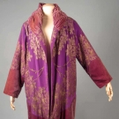 PURPLE & GOLD LAME OPERA COAT, 1920s
