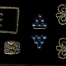 FOUR DIAMANTE BUCKLES, EARLY-MID 20TH C