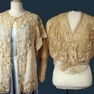TWO EMBROIDERED & IRISH LACE GARMENTS, c. 1912