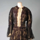 BLACK LACE COAT, PARIS, 1890s