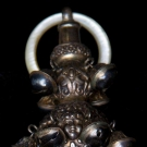 STERLING BABY RATTLE, 19TH C