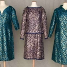 TWO DIOR LAME BROCADE EVENING GARMENTS, 1963 & 1964