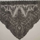 HANDMADE CHANTILLY LACE SHAWL, 1860s