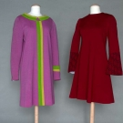TWO RUDI GERNREICH WOOL KNIT DAY DRESSES, 1965-1967