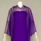 SILK CHIFFON EVENING DRESS & TUNIC, 1976