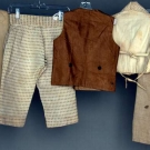 FIVE LITTLE BOYS' GARMENTS, 1800-1860