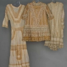 THREE YOUNG GIRLS' LACE DRESSES, 1880-1905
