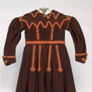 GIRL'S WOOL TWILL DRESS, LATE 1830s