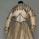 LITTLE GIRL'S SILK PARTY DRESS, c. 1865