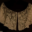 BRUSSELS MIXED LACE BERTHA, 1860-1880