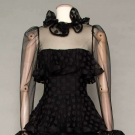 SCAASI BLACK EVENING GOWN, 1982