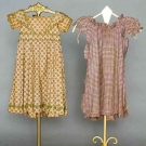 TWO TODDLER'S COTTON DRESSES, 1825-1830