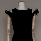CHANEL BLACK DINNER DRESS, 1960s