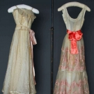 2 SUMMER EVENING GOWNS, 1940 & 1954