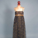 JAMES GALANOS TINSEL TRIMMED GOWN & JACKET, 1967