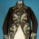 GENT'S EMBROIDERED FORMAL COAT, LATE 18TH C