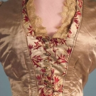 SILK SATIN & BROCADE RECEPTION GOWN, 1880s