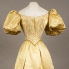 YELLOW BALLGOWN ENSEMBLE, SAN FRANCISCO, 1890s