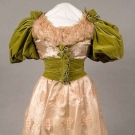PINK & CHARTREUSE BALLGOWN, 1888