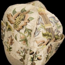 GENT'S EMBROIDERED SILK AT-HOME CAP, 1730-1760
