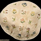 LADY'S NEEDLEWORK CAP BACK, EARLY-MID 1700s