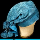 1 BLACK & 1 BLUE SILK WORKMAN'S CAP, SARDINIA, c. 1700