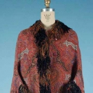 LADY'S EMBROIDERED PAISLEY DOLMAN JACKET, 1880s