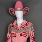 NUDIE 4-PIECE LADY'S PINK COWGIRL OUTFIT, 1975