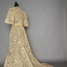 HANDMADE BRUSSELS MIXED LACE GOWN, 1890s