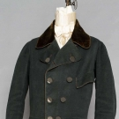 BOTTLE GREEN GREATCOAT/SURTOUT, HAVERHILL, MA, 1820s