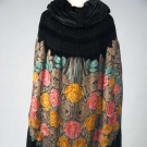 PRINTED LAME OPERA CAPE, MID-1920s
