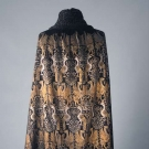 GALLENGA STENCILLED VELVET CAPE, 1920-1930