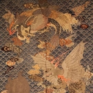 EMBROIDERED MEIJI HANGING, JAPAN, MID 19TH C