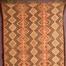 GEOMETRIC PATTERNED SMALL RUG, 19TH-20TH C