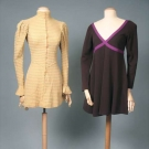 TWO AMERICAN DESIGNER MINI DRESSES, LATE 1960s