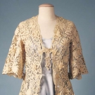 CREAM HANDMADE LACE JACKET, c. 1910