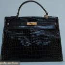 HERMES KELLY ALLIGATOR BAG, MID 20th C