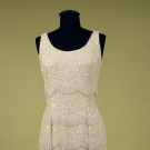 BEADED & SEQUINNED SHORT PARTY DRESS, 1970s