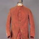 GENT'S STRIPED VELVET COAT & BREECHES, c. 1760
