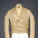 GENT'S BROWN LINEN TAIL COAT, AMERICA, 1800-1830