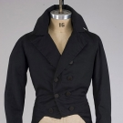 GENT'S BLACK BROADCLOTH TAILCOAT, 1830-1845