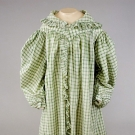 GREEN & WHITE GINGHAM DRESSING GOWN, 1825-1830